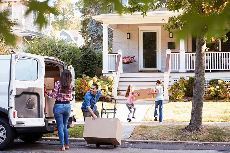 Unloading a moving van